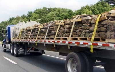truckLoad of stone